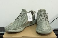 Wholesale 350 Boost Moonrock Shoes with Original Box Kanye West Running Shoe Sneakers Women and Men Sports Shoes with Receipt and Free Socks