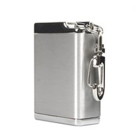 Wholesale Mini Metal Portable Ashtray with Keychain Stainless Steel Outdoor Portable Ashtray with Lid Holiday Ashtray Gift for Friends