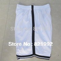 Wholesale Hottest Sale Brooklyn Men s Basketball Highest Grade Mesh shorts Accept Mixed Order White Black stitched