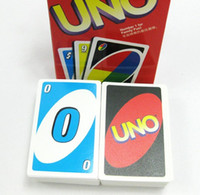 Wholesale 2015 g UNO poker card standard edition family fun entermainment board game Kids funny Puzzle game