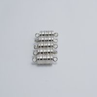 Wholesale 8 MM Bamboo shaped Strong Magnetic Clasp Jewelry Findings Bead Fit Necklace