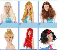 bell wig - Good Quality Fashion Styled Game of Thrones Sleeping Beauty Snow White Melinda Tinker Bell Mermaid Cosplay Hair wigs for Women Grils