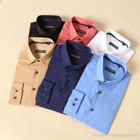 Wholesale AArmanis star Mens Slim fit Unique neckline stylish Men s Dress long Sleeve Shirts Mens dress shirts size M XXL