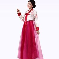 Wholesale 2017 New Korean Traditional Dress Stage Show Hanbok Costume Danse Russe Traditional Court Dress Hanbok Korean Traditional Dress