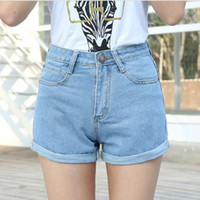Wholesale High Waist Denim Shorts Plus Size Female Short Jeans for Women Summer Ladies Hot Shorts