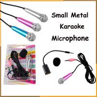 Wholesale Mini Portable Small Metal Karaoke Microphone For iPhone Samsung And Other Mobile Phone Laptop mm Support IOS Android Phones