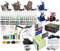 beginner art kits - Complete Tattoo Kit Body Art Gun Machine Power Supply Colors TK