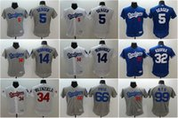 Wholesale Men Los Angeles Dodgers Corey Seager Enrique Hernandez Valenzuela Puig Hyun Jin Ryu flexbase baseball jerseys Stitched mlb