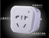 Wholesale BULL GN G european type converter socket Power AC Adapter Plug for UE Europe Germany Standard Russia Spain conversion plug