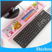 Wholesale New Multifunction Computer Keyboard desktop province space arrangement shelf fashion office storage rack shelf free dhl