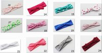 Bandanas hair turban - 20pcs girl baby Wave point cotton Turban Twist Headband Head Wrap Twisted Knot Soft Hairband Headbands for girl HeadWrapFD6521