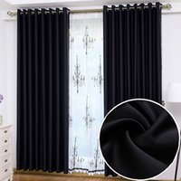 Wholesale Curtain Modern Black Blackout Curtains For Living Room Kitchen Bedroom Hotels Curtains Blinds Cortina Quarto m m Customized