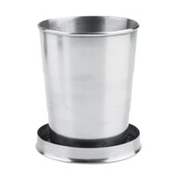 Wholesale 8oz ml Stainless Steel Folding Cup Telescopic Collapsible Outdoor Cup tableware A063