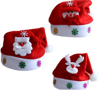 Wholesale 2016 Christmas hats high quality Christmas decorations party hats For Children New Year Gift