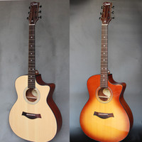Wholesale Handmade good quality cut away acoustic guitar accept custom Chinese brand guitar