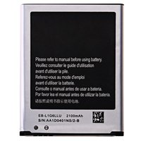 Wholesale FOR Samsung Galaxy S3 battery i9300 I9308 EB L1G6LLU Battery Standard Li ion Replacement High Quality Battery