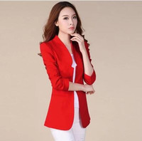 Wholesale 2016 New Fashion Women Lady Tops Slim Suit OL Blazer Short Coat Jacket M L XL XXL