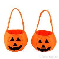 batik handbag - Halloween Pumpkin bag for kids Orange Pumpkin handbag Halloween Pumpkin Cloth basket Pumpkin Candy bag in stock