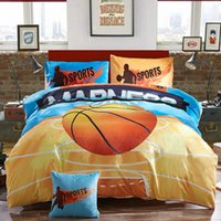 basketball comforter sets - cartoon basketball print kids boys bedding sets twin queen size Queen full size flannel fleece duvet cover set gray soft