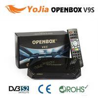 Wholesale 10pcs Factory Original Openbox V9S v9 HD Satellite Receiver Support WEB TV Biss Key USB Wifi G CCCAMD NEWCAMD IPTV