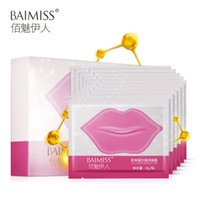Wholesale BAIMISS Crystal Collagen Lip Mask Pads Baby Care Anti Ageing Wrinkle Essence Women Cute Makeup Beauty Moisturizing Full Lips