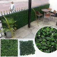 Wholesale foliage trees X50cm Artificial Boxwood Hedge Mat Fake Plants Outdoor Privacy Fencing Foliage for Garden Decoration G0602A001A