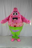 Wholesale Spongebob Squarepants Mascot Costumes - Wholesale Free shipping New Patrick Star fish of Spongebob Squarepants Cartoon Mascot Costume Suit Express