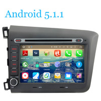 Wholesale 16G Flash For Honda CIVIC Car DVD Player Tape Recorder Android Quad Core G WIFI Radio GPS Navigation TV DVR BT