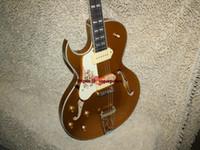 Wholesale NEW Left Handed Guitar Hollow body Electric Guitar Goldtop OEM Guitar
