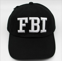 baseball manufacturers - 2016 Spot summer hat male tide FBI embroidered baseball cap visor child manufacturers outdoor sports