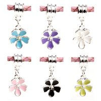 Wholesale Fashion European Cherry cherry blossoms Charms Pendant Beads Silver Plated Beads Fit Pandora Bracelet Charms DIY Jewelry