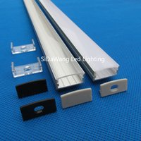 anodized aluminum profile - 20pcs m m per piece led aluminum profile for mm PCB anodized DIY2410 M led aluminum extrusion