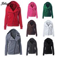 Wholesale Women Sport Hoodies Casual Print Zipper Long Sleeve Pockets Hoody Sweatshirts Women s Sweatshirts Sportswear Women s tracksuits
