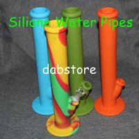 Wholesale Hot Sale Silicon Water Pipes glass bongs glass water pipe silicone water pipes silicone bongs silicone water bong DHL