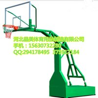 Wholesale Factory direct outdoor standard adult mobile basketball basketball imitation hydraulic flat box with tempered glass backboard High flexible