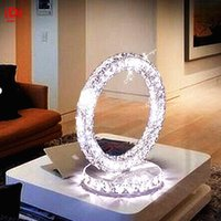 Wholesale Modern Europe LED crystal lamp stylish decor living room study bedroom bedside table lamp Upscale atmosphere