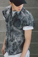 album wash - FNTY KANYE WEST a genuine album arc bottom wash old denim shirt shirt
