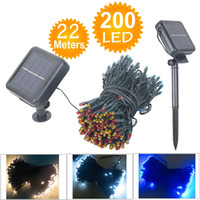 Wholesale M LED Solar Lamps LED String Fairy Lights Garland Christmas Solar Lights for wedding garden party Decoration Outdoor