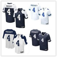 baseball outlets - 2016 NEW Dak Prescott Cowboys blue white thanksgiving day Stitched Elite Football Jerseys Free Drop Shipping Mix Order Factory Outlet