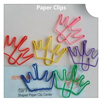 Wholesale 200Pcs Crown Shape Paper Clips Creative Bookmark Memo Clip Stationery for Office School Home Use Xmas Best Gifts