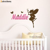 beautiful baby names - Personalised Custom Name Wall Stickers Bedroom Home Decoration Art Mural Decals Wallpaper Beautiful Girl Baby Room