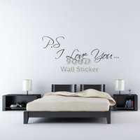 affordable art supplies - art power supply Affordable PVC Wall Stickers Quote Big quot ps i love you quot decoration ideal for DIY made of Vinyl DQ14065