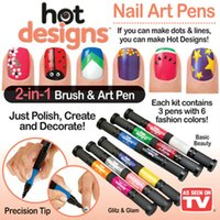 nail art pen - Hot Designs Nail Art Pens Colors D Nail Art DIY Decoration Nail Polish Pen Set D Design Nail Beauty Tools Paint Pens