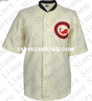Wholesale Retro Mens blank Chicago Whales Home Baseball Jersey beige Throwback or Custom any number name Stitched jerseys