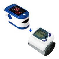 Wholesale Digital LCD Wrist Blood Pressure Monitor Meter Measure Finger Pulse Oximeter Blood Oxygen SpO2 Monitor
