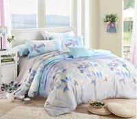 bedding summer comforter set - Luxury soft Tencel Satin Silk Butterfly summer bedding sets bedclothes Queen King Size for wedding decoration set