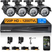 Wholesale Defeway CH CCTV System P DVR TVL IR Weatherproof Outdoor CCTV Camera Home Security System Video Surveillance Kits