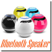 ball audio speakers - GS009 Colors Round Ball Bluetooth Speaker Outdoor Handfree Mic Stereo Portable Light Mini Speakers TF Card FM Call Function In Retail Box