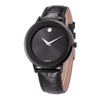 Le carbone 100 xl montre des hommes de montres de hommes d'horloge occasionnels mira le montre de cuir de qualité résistant à l'eau movimient