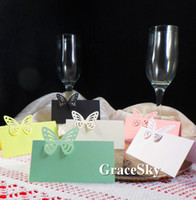 laser cutting beautiful name card - 50pcs Mini Beautiful Butterfly Laser Cut Paper Place Seat Name Invitation Card for Wedding Birthday Party Table Decorations